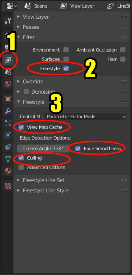 View Layer properties in Blender