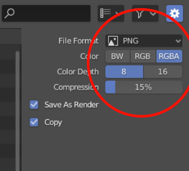 Blender save as PNG with transparent background